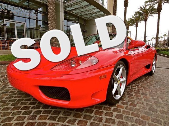 2001 Ferrari 360 SPYDER La Jolla, Califorina