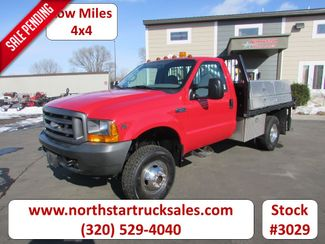 2001 Ford F-350 4x4 Reg-Cab Flatbed Truck in St Cloud, MN