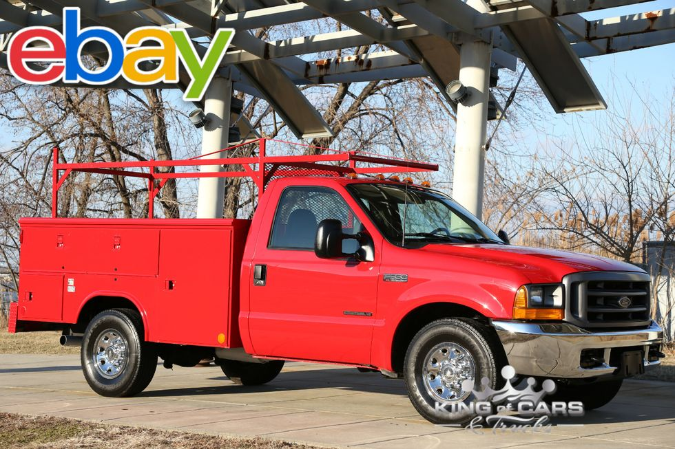 2001 Ford F350 Reading Utility Body 7 3l Diesel Low Miles 1