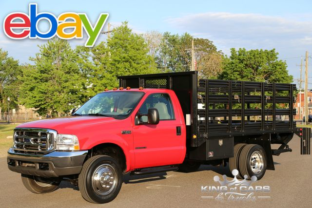 2001 Ford F450 Flatbed Stake BODY 7.3L TURBO DIESEL 87K MILES 1-OWNER