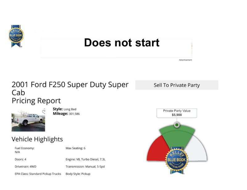 2001 Ford Super Duty F-250 XL  in Salt Lake City, UT
