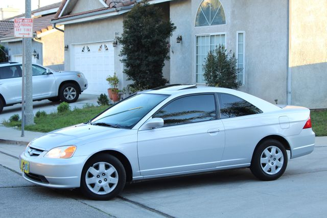 2001 Honda CIVIC EX COUPE 82K MLS AUTO SUNROOF SERVICE RECORDS NEW BRAKES in Woodland Hills CA, 91367