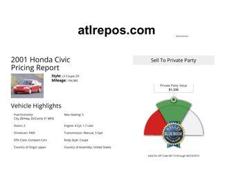 2001 Honda Civic LX Salt Lake City, UT