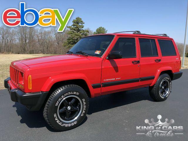 2001 Jeep Cherokee Sport Xj 88K ORIGINAL MILES 1-OWNER GARAGED 4X4 4WD