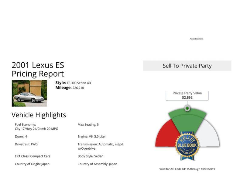 2001 Lexus ES 300   in Salt Lake City, UT