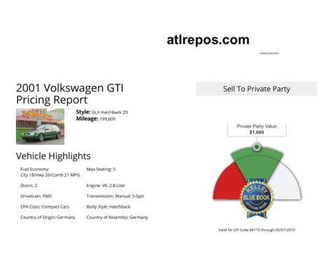 2001 Volkswagen GTI GLX in Salt Lake City, UT