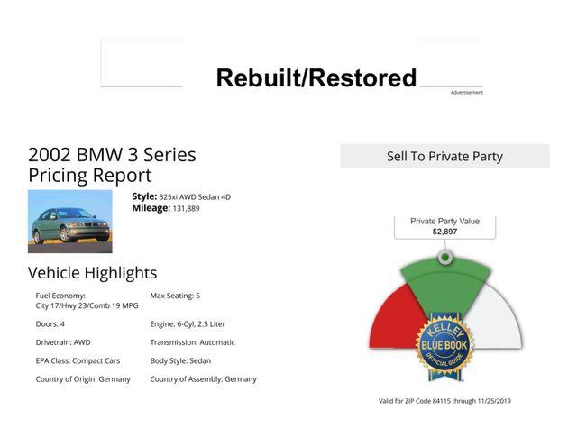 2002 BMW 325xi Salt Lake City, UT