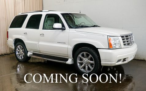 2002 Cadillac Escalade AWD 8-Passenger SUV w/6.0L V8, Heated Front/Rear Seats, Moonroof, BOSE Audio and Tow Pkg in Eau Claire