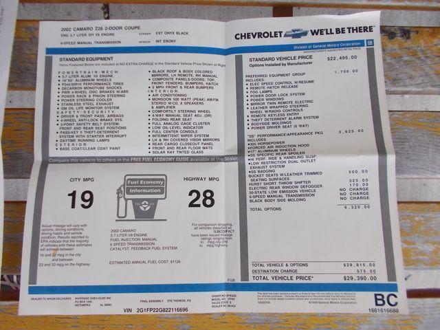 2002 Chevrolet Camaro Z28 Shelbyville, TN 53
