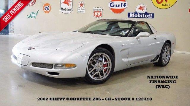 2002 Chevrolet Corvette Z06 6 SPD,HUD,LEATHER,CHROME WHLS,6K,WE FINANCE