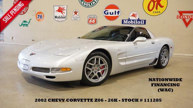 2002 Chevrolet Corvette Z06 Coupe 6 SPD,CAM,HEADERS,HUD,LTH,26K