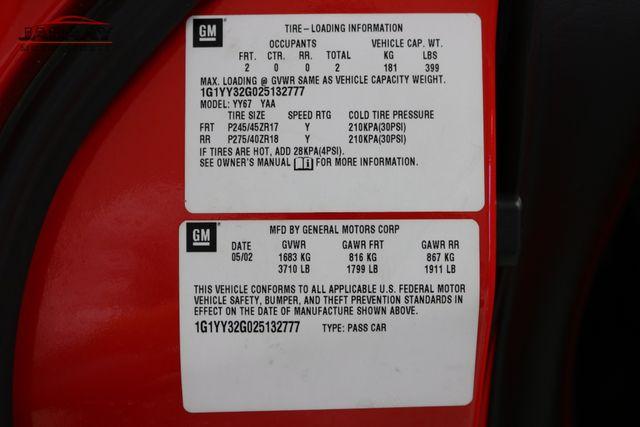 2002 Chevrolet Corvette Merrillville, Indiana 48