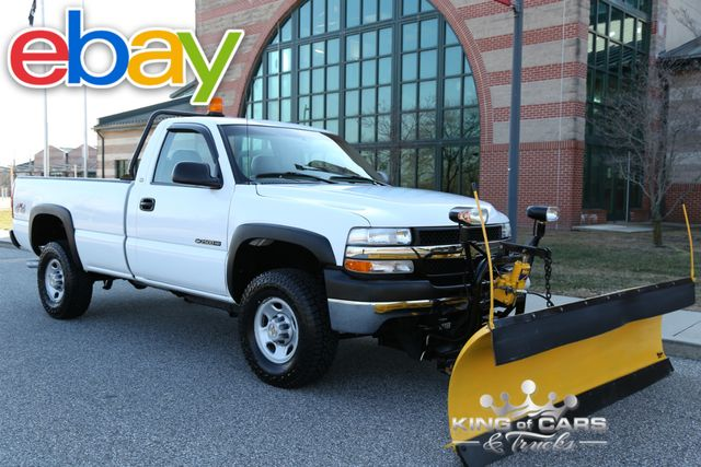 2002 Chevrolet Silverado 2500HD 4X4 6.0 MEYERS PLOW RUST FREE CLEAN!