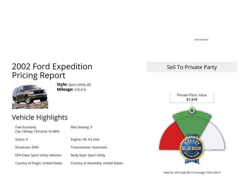 2002 Ford Expedition XLT  in Salt Lake City, UT