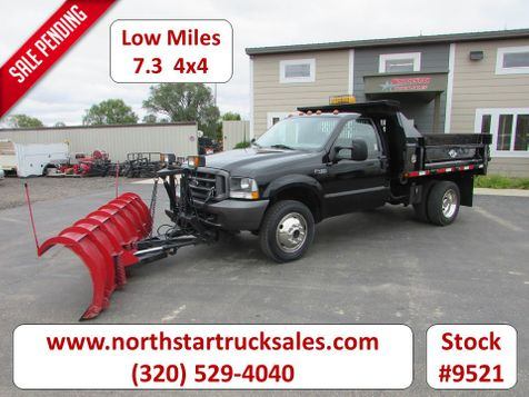 2002 Ford F-450 7.3 4x4 Dump-Plow Truck with 9' Plow  in St Cloud, MN