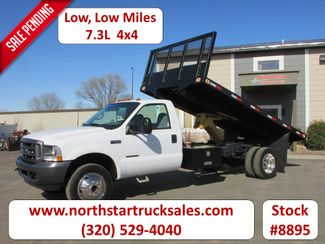 2002 Ford F-550 4x4 Reg Cab Tipper Flatbed in St Cloud, MN