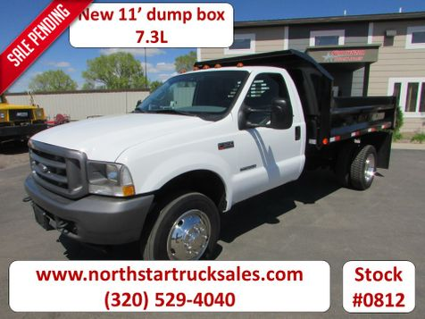 2002 Ford F-550 7.3 4x2 Reg Cab Dump Truck  in St Cloud, MN