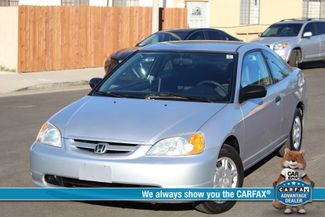 2002 Honda CIVIC DX COUPE 77K MLS 1-OWNER MANUAL SERVICE RECORDS in Woodland Hills, CA 91367
