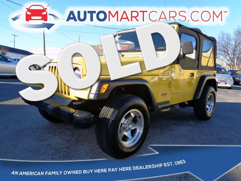 2002 Jeep Wrangler SE | Nashville, Tennessee | Auto Mart Used Cars Inc. in Nashville Tennessee