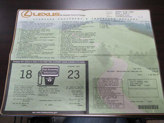 2002 Lexus SC 430 Austin , Texas 35