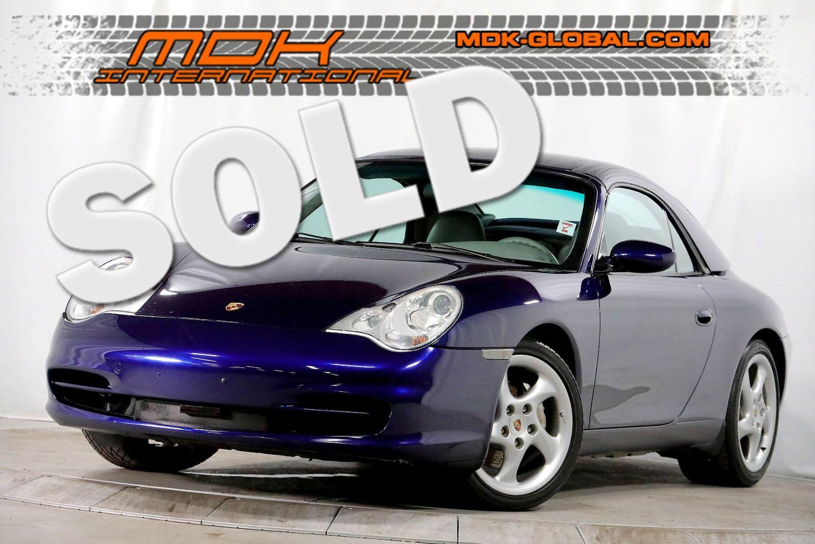 2002 porsche 911 carrera - manual - hardtop - xenon headlights city