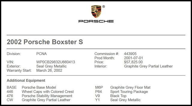 2002 Porsche Boxster in Carrollton TX