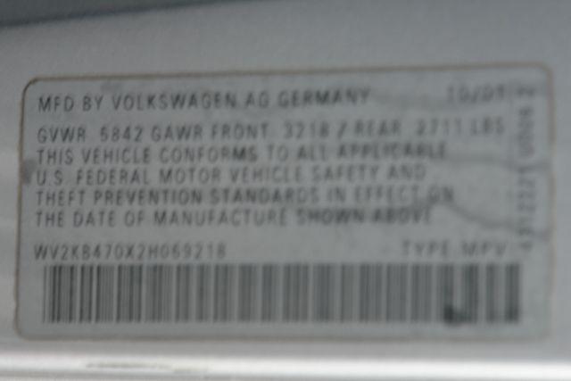 2002 Volkswagen EuroVan GLS in Phoenix Az., AZ 85027