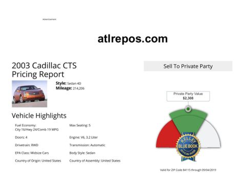 2003 Cadillac CTS  in Salt Lake City, UT