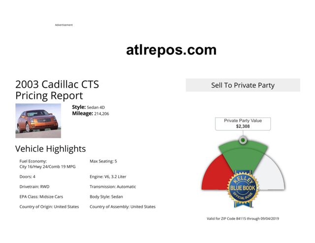 2003 Cadillac CTS Salt Lake City, UT