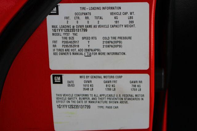2003 Chevrolet Corvette Z06 MEMORY PKG- CORSA EXHAUST- HURST SHIFTER - VR! Mooresville , NC 47