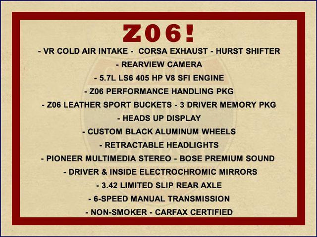 2003 Chevrolet Corvette Z06 MEMORY PKG- CORSA EXHAUST- HURST SHIFTER - VR! Mooresville , NC 1