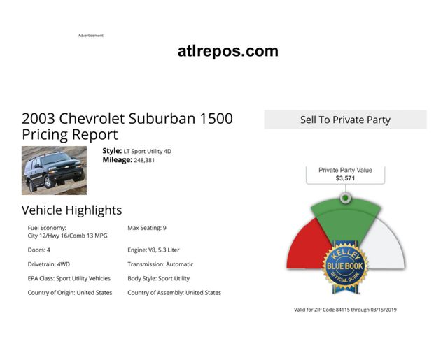 2003 Chevrolet Suburban LT Salt Lake City, UT