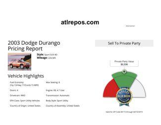 2003 Dodge Durango Sport Salt Lake City, UT