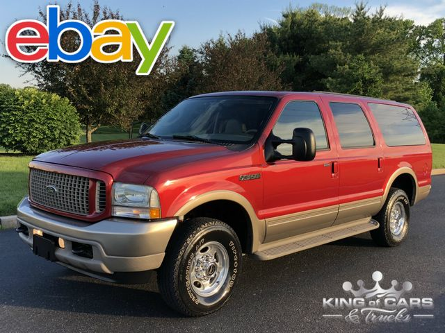 2003 Ford Excursion Eddie BAUER TURBO DIESEL 89K MILES 1OWNER 4X4 DVD in Woodbury, New Jersey 08096