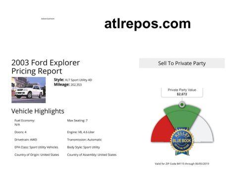 2003 Ford Explorer XLT in Salt Lake City, UT