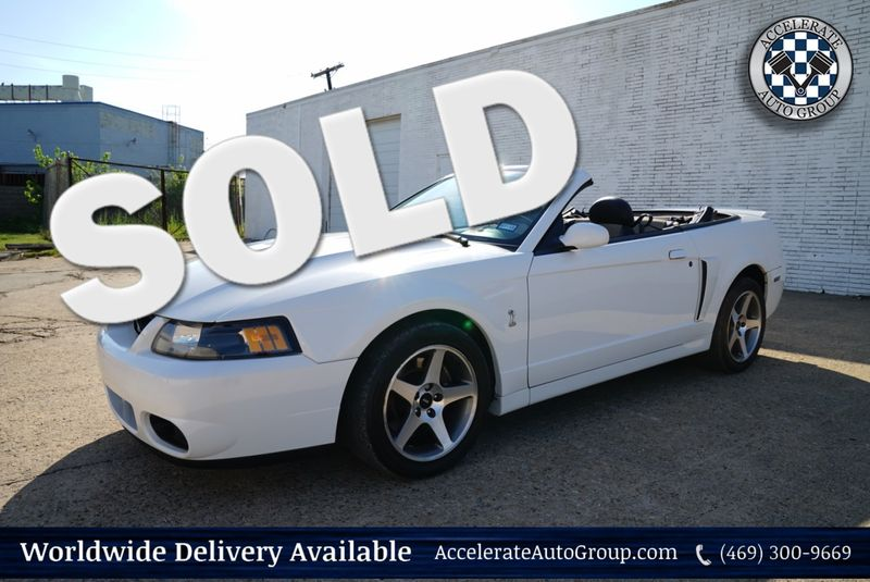 2003 Ford Mustang SVT Cobra Conv - LOW MILES, NICE! in Rowlett Texas
