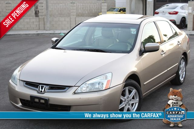 2003 Honda ACCORD EX/LEATHER SEDAN SUNROOF 73K MLS SERVICE RECORDS in Woodland Hills, CA 91367
