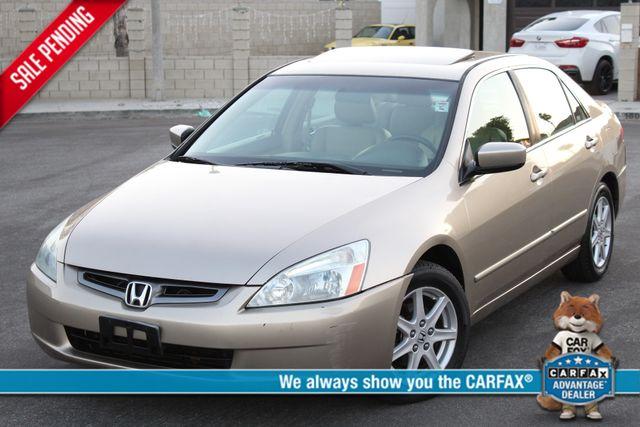 2003 Honda ACCORD EX/LEATHER SEDAN SUNROOF 73K MLS SERVICE RECORDS