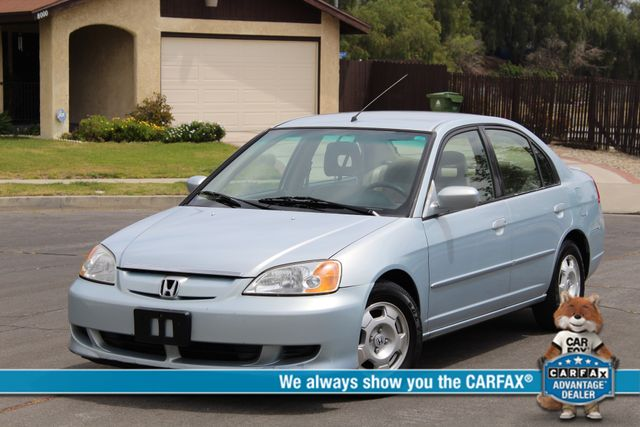 2003 Honda CIVIC HYBRID SEDAN AUTOMATIC 1-OWNER SERVICE RECORDS NEW TIRES