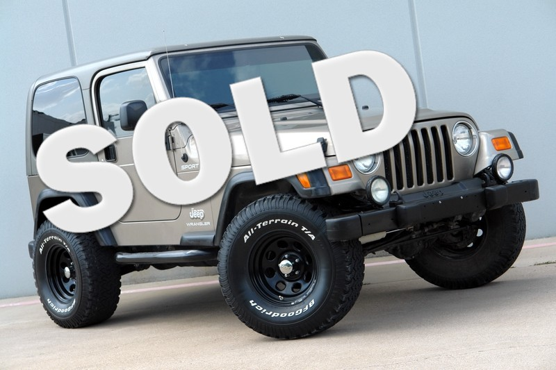 U003c 2003 Jeep Wrangler Sport Lifted 4WD In Plano TX, ...