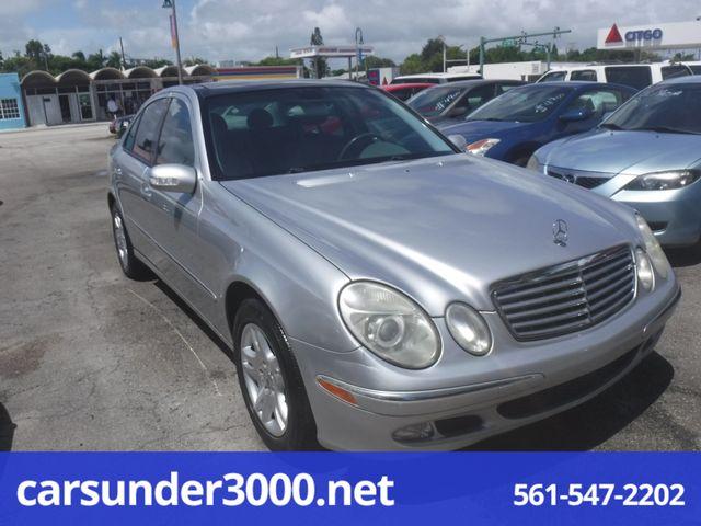 2003 Mercedes-Benz E320 3.2L Lake Worth , Florida