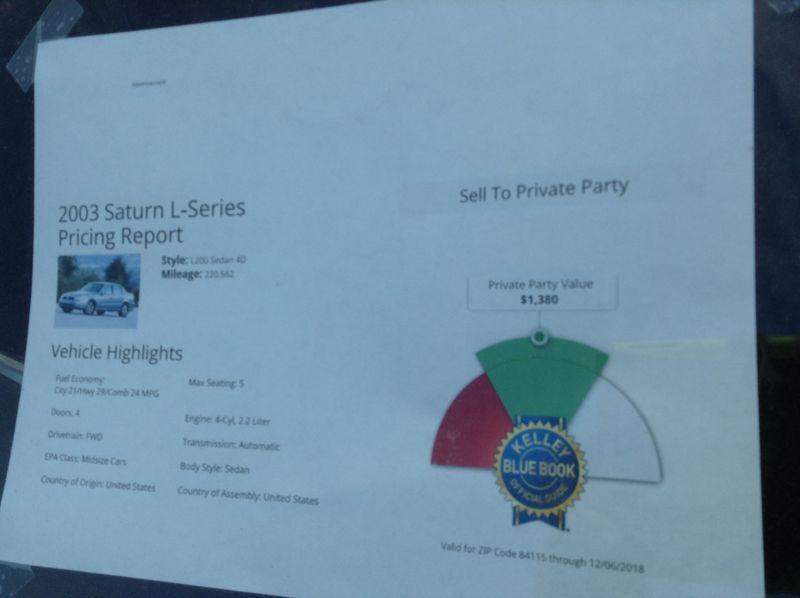 2003 Saturn LS   in Salt Lake City, UT