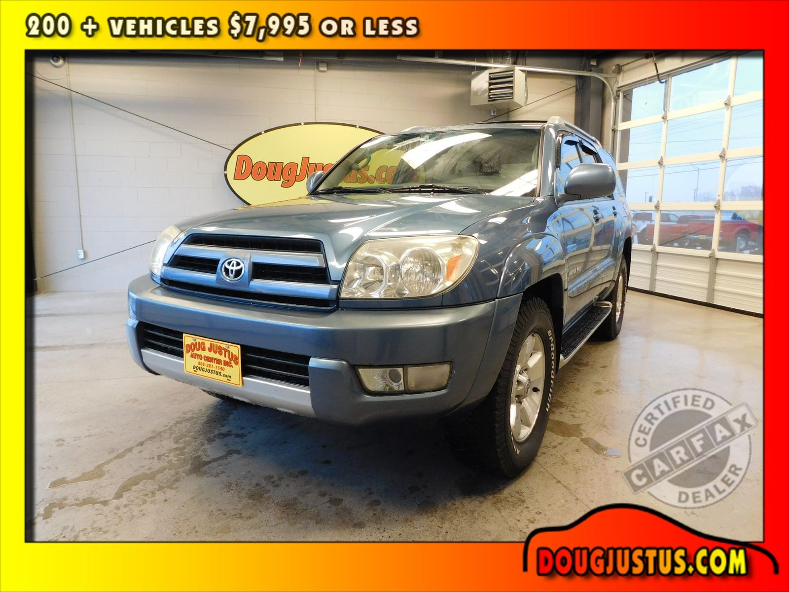 2003 Toyota 4runner Limited City Tn Doug Justus Auto Center Inc In Airport Motor Mile