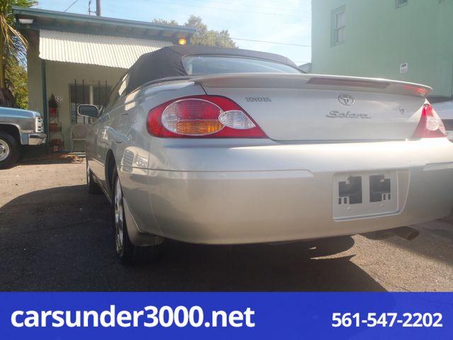2003 Toyota Camry Solara SLE Lake Worth , Florida 2