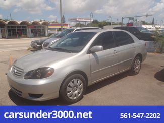 2003 Toyota Corolla LE Lake Worth , Florida