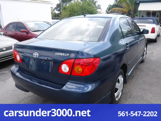 2003 Toyota Corolla S Lake Worth , Florida 1