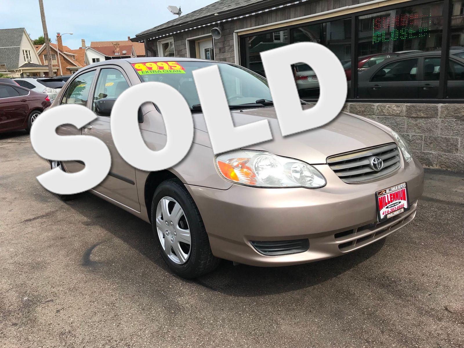 2003 Toyota Corolla CE City Wisconsin Millennium Motor Sales In , Wisconsin  ...