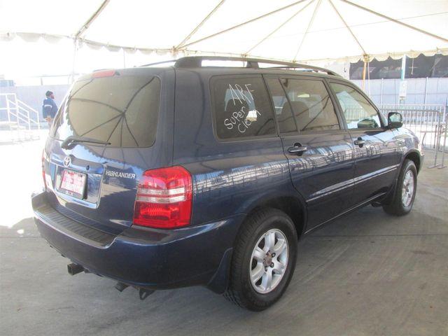 2003 Toyota Highlander Gardena, California 2