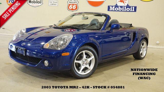 2003 Toyota MR2 Spyder AUTOMATIC,SOFT TOP,LEATHER,42K,WE FINANCE