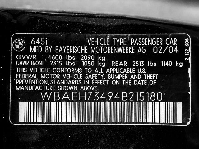 2004 BMW 645Ci MANUAL 6sp manual Burbank, CA 26